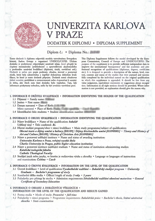 model diploma supplement  model diploma supplement